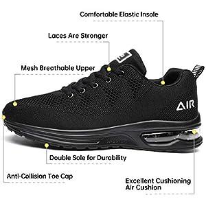 Autper Mens Air Sports Tennis Sneakers Shoes for Running, Gym, Jogging, Walking Athletic Footwear, Size 7 - Allblack
