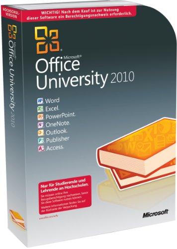 Microsoft Office University 2010 deutsch - Berechtigungsnachweis erforderlich [import allemand]