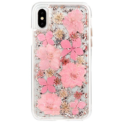 Case-Mate iPhone X Case - KARAT PETALS - Made with Real Flowers - Slim Protective Design - Apple iPhone 10 - Pink Petals