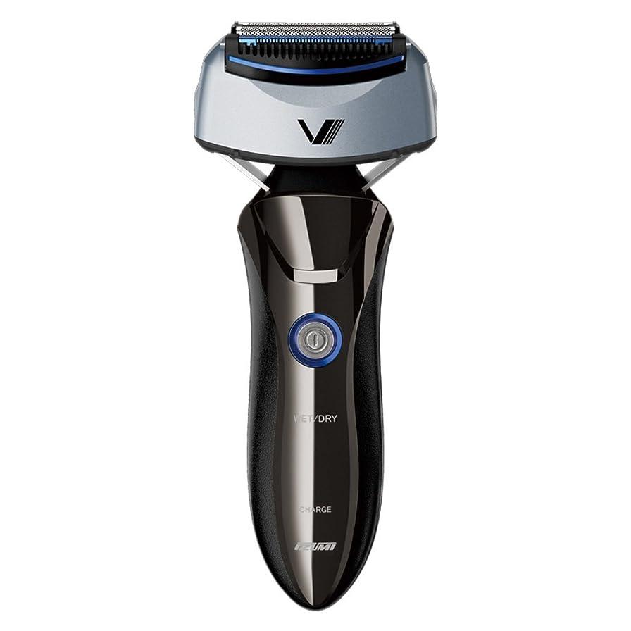 添付ビジョン錫IZUMI 【約4週間充電不要&本体丸洗い&100-240V対応】 VIDAN 往復式シェーバー 深剃り4枚刃 シルバー IZF-V65S