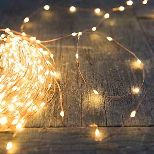 PERFECTDAY String Lights, 200 LED 66 FT Copper Fairy String Lights Warm White Waterproof USB Powered String Light for Indoor Outdoor Party Decoration