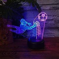 プレーヤー主導3Dナイトライトホーム装飾子供男の子ファン誕生日ギフトテーブルナイトランプサッカーランプ