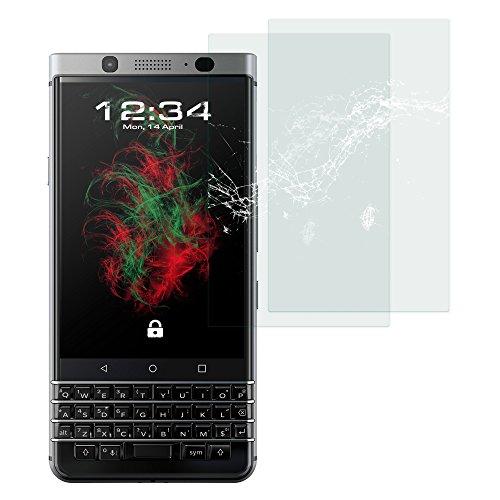2x Baluum Panzerglas für Blackberry KEYone Klare Bildschirmschutzfolie 9H Echt-Glasfolie Clear Tempered Glass Screen protector Glas Durchsichtige Schutzfolie für ihr Blackberry KEYone (Glasfolie-Klar 2x)