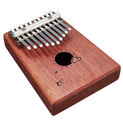 ZoSiP Kalimba Sanza Finger Daumen Piano Mbira 10 Keys Kalimba Afrikanische Festen Mahagoniholz Daumenklavier Finger Percussion for Geschenke (Color : Natural, Size : One Size)