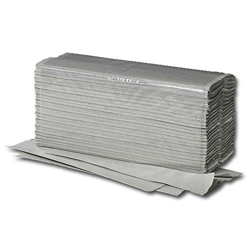 5000x Papierhandtücher, recycling, Zick-Zack-Falz, 1-lagig, Grau, 25 x 23 cm