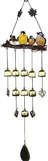 XingangOutdoor vindspel harts fågel hänge klocka hängande prydnad för hem trädgård innergård dekoration