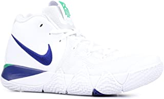 Nike Men's Kyrie 4 Basketball Shoes, US 10.5, White/Deep Royal Blue