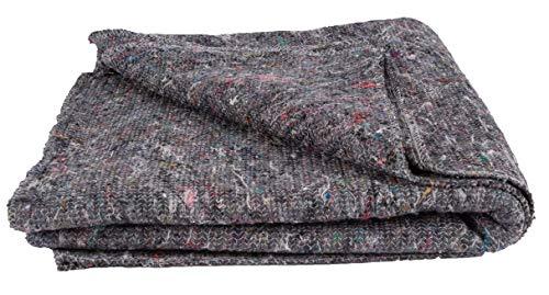5 x Packdecken Möbelpackdecken ca 350g/m² - Grau, 150x200cm Umzugsdecken - Möbeldecken -Transport Decken