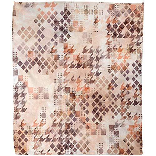 Throw Blanket Fantasia Astratta Pied De Poule Tand van hond met aquarel effect en sjaal geometrische sjaal dekbed zacht warm hotel bankovertrek van fleece SOG