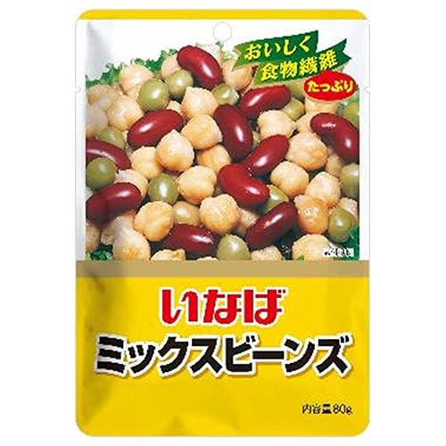 いなば食品 ミックスビーンズ 80g×8袋入×(2ケース)