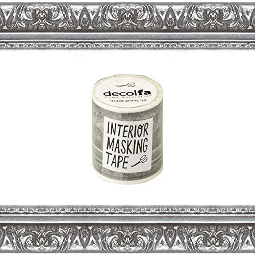ニトムズ デコルファ (decolfa) インテリア マスキングテープ フレーム/シルバー キレイにはがせる  幅5cm×長さ8m M3603