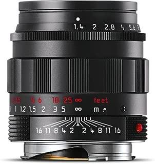 Leica 50mm f/1.4 SUMMILUX-M Aspherical, Manual Focus Lens for M System - Black Chrome - U.S.A. Warranty