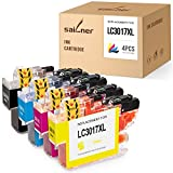 SAILNER Compatible Ink Cartridge Replacement for Brother LC3017 LC 3017 use with MFC-J5330DW MFC-J6530DW MFC-J6930DW MFC-J6730DW (1 Black, 1 Cyan,1 Magenta, 1 Yellow, 4 Pack)