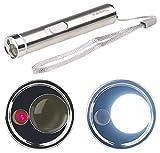 PEARL Laser Lampe: 2in1-LED-Taschenlampe & Laserpointer, Edelstahl-Gehäuse, 15 Lumen (Pointer)