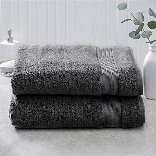 Charisma 100% Hygro Cotton 2-piece Bath Sheet Set - Gray