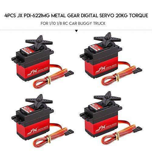Goolsky PDI-6221MG Metal Gear Digitaler Servo 20kg Drehmoment Aluminums Fall für 1:10 1: 8 RC Auto LKW(4PCS)
