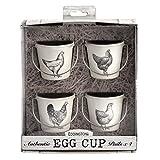 Eddingtons Vintage Hühner-Eierbecher, 4 Stück