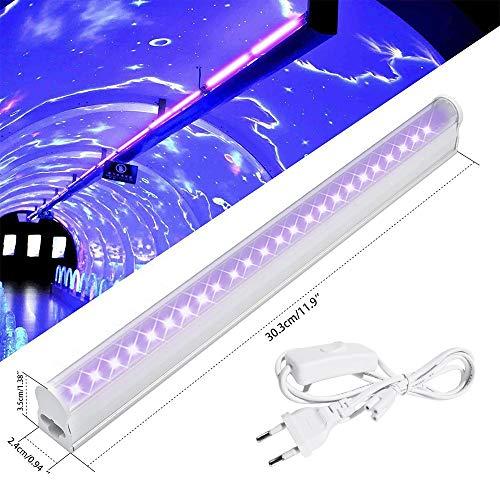 Blingbin UV Mini Black Lights 6W, LED Lámpara de escenario, Disco Party Luces púrpuras, Luces de disco, Control DJ Lights Luz de escenario para Festival Bar Club Party Wedding Show Inicio