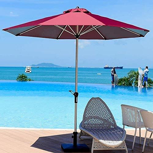 ZHANGYY Sombrilla de Exterior Mesas y sillas de Exterior Sombrillas de Aluminio, 270 cm, con manivela, Doble Techo Transpirable, Engrosado balcón jardín Plegable (Color: Blanco, Tamaño: Do