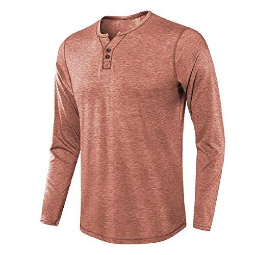 Invierno Casual Slim V cuello hombres camisa manga larga camiseta Top suelta hombres ropa
