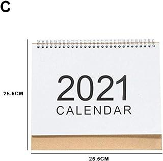Calendario da Scrivania Flip-up Stand-up Tavolo da Ufficio Data Appunti Blocco Note per Aula Famiglia O Ufficio Aziendale josietomy Calendario da Tavolo 2019-2020 Scrivania Mensile
