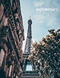 College Ruled Notebook: La tour eiffel en francais convenient Student Composition Book Daily Journal Diary Notepad for notes on Paris vacation packages payment plans [Idioma Inglés]