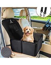 Wimypet Wytrzymały fotel samochodowy dla psów, tylne siedzenie, siedzenie dla małych średnich psów, wodoszczelny, składany pokrowiec na fotel samochodowy z pasem bezpieczeństwa