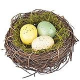 HEALLILY Handmade Bird Nest Artificial Nest with Egg Decorative Bird Nest for Shooting Props Home Decor
