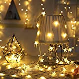 Star String Lights Battery Operated, 9.8ft 20 LED Twinkle Little Star Light Warm White, Indoor and Outdoor Decoration for Kids Room, Wall, Bedroom
