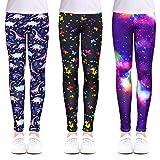 OioTuyi Leggings para niñas elásticos Longitud hasta el Tobillo Pantalones de impresión de Flores para 104-158#TEIG-65
