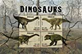 2014 Dinosaurs, Nigersaurus, Iguanodon, Agustinia, Doliosauriscus, Collectible Sheet of 4 Stamps, Mint Never Hinged