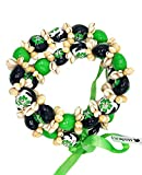 Hawaiian Leis Kukui Nut Beads Necklaces with Cowrie Shell for Men and Women 28' Adjustable Assorted Color Lei (Yellow Green)