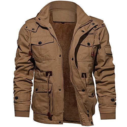 PXFX 2019 Herenjas, dikke warme militaire bomber tactische jas, heren, outwear fleece ademend met capuchon windjack 4XL