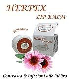 HERPEX LIP BALM - Contrasta le infezioni alle labbra compreso l'herpes labiale. Formulato con ingredienti naturali. Unguento 15 ml