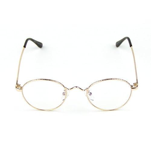 4d4561d6cf56e Cyxus Retro Metal Round Frame Clear Lens Glasses