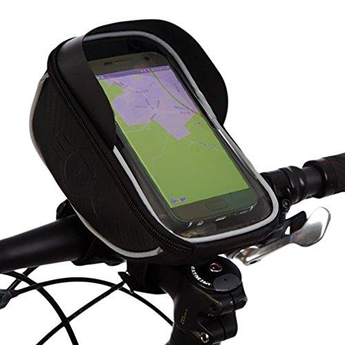 BTR Handyhalterung Fahrrad Lenkertasche Fahrradtasche. Fahrrad Handyhalterung Fahrradtaschen Wasserabweisen - Option für Integrierte Sonnenblende