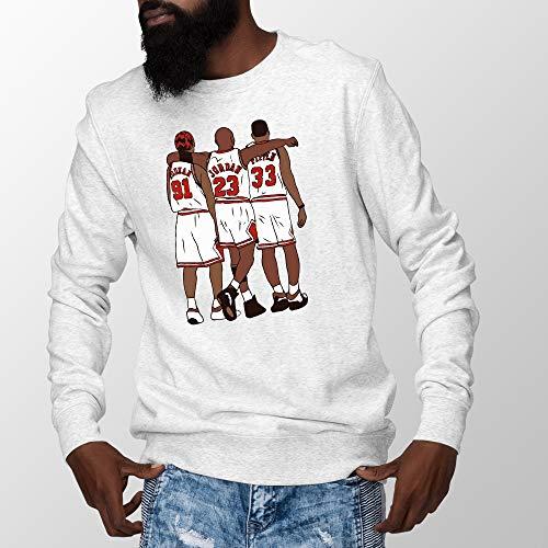 Jordan Pippen Rodman Sweatshirt Chicago Basketball Sweatshirt White