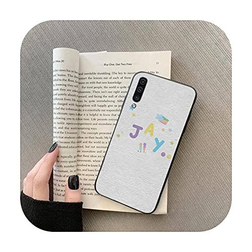 lindo enhypen arco iris gato teléfono caso para Samsung Galaxy S 7 8 9 10 20 borde A 6 10 20 30 50 51 70 note 10 plus-a3-samsung a71 5G