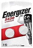Energizer 2430 Piles bouton au lithium, pack de2