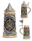 Amoy-Art Jarra de Cerveza Alemana Beer Stein Mug Deutschland águila Imperial para Regalos Giftbox 0.6Litre German