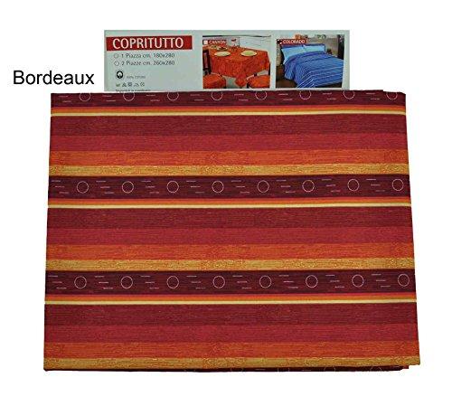 CASA TESSILE Colorado Telo arredo copritutto cm 260x280 - Bordeaux
