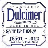 D'Addario J6401 Corde seule en acier pur pour dulcimer