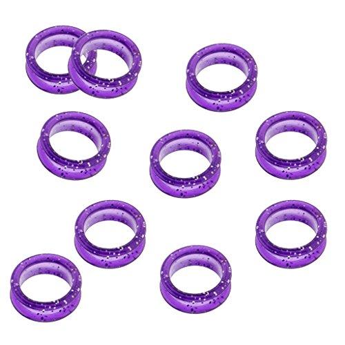 F Fityle 10x Insertos de Anillo de Dedo de Tijeras para Peluquería Tijeras de Peluquero - Púrpura