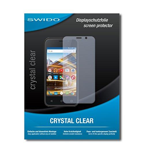 SWIDO Schutzfolie für Archos 40 Neon [2 Stück] Kristall-Klar, Hoher Festigkeitgrad, Schutz vor Öl, Staub & Kratzer/Glasfolie, Bildschirmschutz, Bildschirmschutzfolie, Panzerglas-Folie