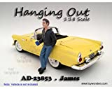 23853 American Diorama Figurine - Hanging Out James Figure 3zd23kn5at7 (1/18 Scale, Black with Blue) 23853 diecast car psmh33jy6t Model 23853American Diorama Figurine - 1:18