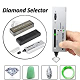 Wilove Professional Diamond Selector, Gem Tester Pen Portable Electronic Diamond Tester Tool for Jewelry Jade Ruby Stone