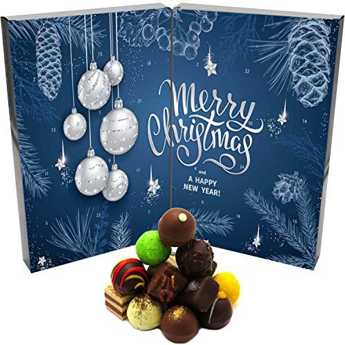 Hallingers Pralinen-Adventskalender - Blue Christmas (Buch-Karton)