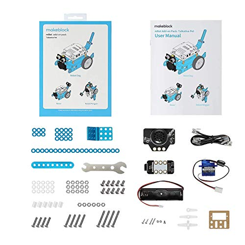 Makeblock Talkative Pet Robot add-on Pack Designed for mBot, 3-in-1 Robot Add-on Pack, 3+ Shapes