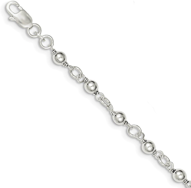 Beautiful Sterling silver 925 sterling Sterling Silver Bead & Ball Bracelet