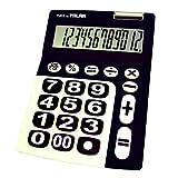 Milan 150912KBL–Calculatrice à 12chiffres, grandes touches, noir et blanc